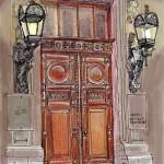 Дворец фасад рисунок